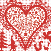 Christmas Heart Red